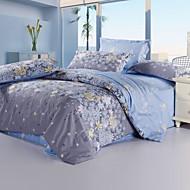 Vaalean sininen Kukka-aihe Herkkä tulostus 1 kpl pussilakana