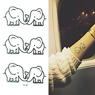 3 Αυτοκόλλητα Τατουάζ Σειρά Άνιμαλ Non Toxic Μοτίβο Χαμηλά στην Πλάτη WaterproofΠαιδικά Γυναικεία Girl Αντρικά Ενήλικες Boy ΕφηβικόFlash