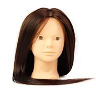 hőálló szintetikus fodrászat női manöken fej nem make-up, barna színű