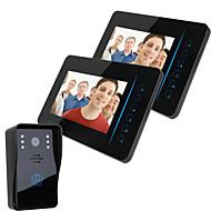 """Ennio 7 """"tft 2.4g video sem fio porta porta telefones porta-voz segurança doméstica 1 camera 2 monitor"""