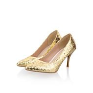 נעלי נשים - בלרינה\עקבים - דמוי עור - עקבים - סגול / כסוף / זהב - שטח / משרד ועבודה / קז'ואל - עקב סטילטו
