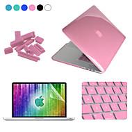 """Enkay 4 em caso de proteção 1 + protetor de tela de cristal + plugs de cinema + teclado anti-poeira para macbook pro retina 13.3 """""""