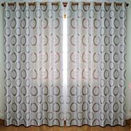 2개 판넬 윈도우 치료 모던 , 포카닷 거실 폴리에스터 자료 정전 커튼 커튼 홈 장식 For 창문
