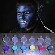 顔は魔法の色を輝く真珠光顔料ハロウィーンボディ塗装面デコ(8色ツールを使用してセットを)塗料
