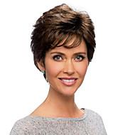 Mulher Perucas de cabelo capless do cabelo humano 6/30 6/613 10/613 6 / 99J 30/613 Curto Ondulado Corte Pixie Com Franjas Parte lateral