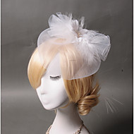 Women's Feather Tulle Headpiece-Wedding Special Occasion Casual Fascinators 1 Piece