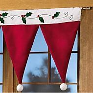 Рождественские украшения штор
