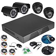 4-канальный видеонаблюдения DVR Full D1 обнаружения движения 600 ТВЛ Крытый ночь система видения камеры