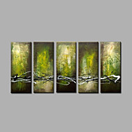 Hånd-malede AbstraktModerne Fem Paneler Canvas Hang-Painted Oliemaleri For Hjem Dekoration