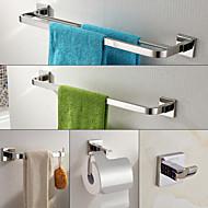 Zestaw akcesoriów łazienkowych , Współczesny Stal nierdzewna Na ścianie