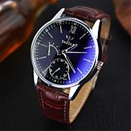 YAZOLE Pánské Náramkové hodinky Křemenný Japonské Quartz Kůže Kapela Běžné nošení Hnědá Bílá Černá Modrá Černá Černá/Bílá