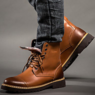 メンズ 靴 レザー 春 秋 冬 カーボーイ/ウエスタンブーツ コンバットブーツ コンフォートシューズ ブーツ ブーティー/アンクルブーツ 編み上げ 用途 カジュアル Work & Safety ブラック Brown