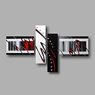 Hånd-malede AbstraktModerne Fire Paneler Canvas Hang-Painted Oliemaleri For Hjem Dekoration