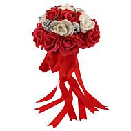 Bryllupsblomster Rund Roser Buketter Bryllup Skum 9.45 tommer (ca. 24cm)