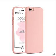 Rózsaszín lány egyszínű elegáns egyszerű puha tok iPhone 6 / 6s plus