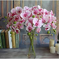 5 Branch Simulation Butterfly Orchid Drawing Room Decorate Artificial Flower