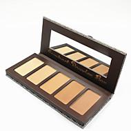 5 Colors Face Powder Cake Pressed Makeup Powder Natural Color Dry Concealer Bronzer Skin Finish Setting