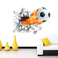 Piirretty Romantiikka Urheilu 3D Wall Tarrat 3D-seinätarrat Koriste-seinätarrat,Vinyyli materiaali Irroitettava Kodinsisustus Seinätarra