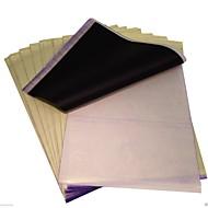 basekey 100 folhas x papel de transferência stencil tatuagem de carbono térmica rastreamento kit a4