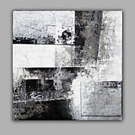 Blak and White Classic Abstract Oil Painting