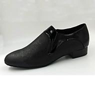 Dansesko(Sort) -Kan tilpasses-Lave hæle-Herrer-Moderne Salsa