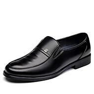 Miehet kengät Tekonahka Kevät Kesä Syksy Talvi Comfort muodollinen Kengät Mokkasiinit Käyttötarkoitus Kausaliteetti Musta Ruskea