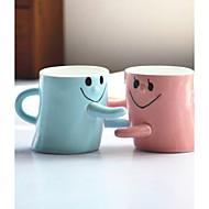 2pcs Valentinstag Geschenk Männer und Frauen Freunde Geburtstagsgeschenk Liebhaber für eine Tasse paar Tassen Gesicht umarmen lächelnd