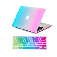 """2 em 1 arco-íris colorido caso de corpo inteiro + capa de teclado para MacBook Air 11 """"pro 13"""" / 15 """""""