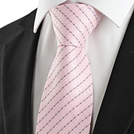 New Striped Pink Classic Men's Tie Necktie Wedding Party Holiday Prom Gift #1004