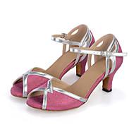 Sapatos de Dança(Azul / Rosa) -Feminino-Personalizável-Dança do Ventre / Latina / Jazz / Tênis de Dança / Moderna / Samba / Sapatos de