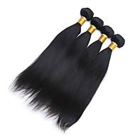 Tissages de cheveux humains Cheveux Brésiliens Droit 6 Mois 4 Pièces tissages de cheveux