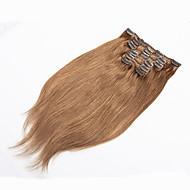 인간의 머리 확장에 클립 확장 70g 백금 금발 인간의 헤어 클립 인간의 머리 클립을 금발
