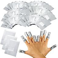 100kpl / erä alumiinifolio kynsikoristeet liota pois akryyli geeli kynsilakka poisto kietoo poisto meikki työkalu