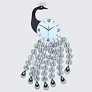 Nouveauté Moderne/Contemporain Horloge murale,Animaux / Inspiré / Dessin animé Verre / Métal / Pierre 90cm x 55cm(35in x 22in )