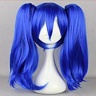 Femme Perruque Synthétique Sans bonnet Raide Bleu Perruque tressée Tresses Africaines Perruque Halloween Perruque de carnaval Perruque