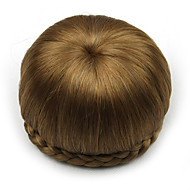 Kinky ouro encaracolado europa noiva cabelo humano sem tampa perucas chignons SP-002 2005