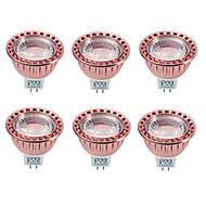 Ywxlight® dimmable 8.5w gu5.3 (mr16) led lumina reflectoarelor 1cob 850-900m cald / rece alb ac / dc12v 6pcs
