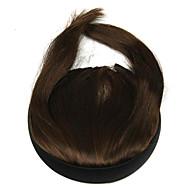 brun perruque 10cm haute température fil favoris qi couleur liu 2009