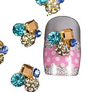10kpl neliö kristalli pyöreä 3d tekojalokivi DIY tarvikkeet kynsikoristeet koriste