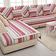 pamuk / lan stari gruba protuklizne presvlaka za namještaj modni četiri godišnja doba tkanine pletene kauč jastuk crveno / siva boja