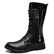 Unisex Bootsit Moottoripyöräsaappaat Maiharit Synteettinen mikrokuitu PU Syksy Talvi Kausaliteetti Juhlat Moottoripyöräsaappaat Maiharit