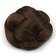excêntricas chignons perucas castanho encaracolado do laço do cabelo humano 2009
