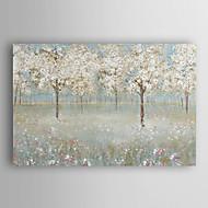 gerilmiş çerçeve 7 duvar arts® ile el boyalı yağlı boya manzara kiraz çiçeği ağacı