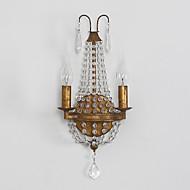 Klassinen pohjoiseen Amercian maaseutu vuosikerta Crystal seinä lamppu varten sisä / hotellihuoneen koristella seinävalaisin