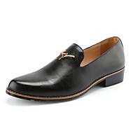 Masculino sapatos Couro Verão Outono Conforto Mocassins e Slip-Ons Caminhada Para Casamento Casual Festas & Noite Preto Amarelo Vinho