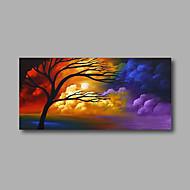 Pintados à mão Abstracto / Paisagem Pinturas a óleo,Modern 1 Painel Tela Hang-painted pintura a óleo For Decoração para casa
