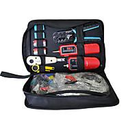 kit casa fiação, braçadeira de cabo, linha tester, cabeça de cristal decapagem, cortador de fio, kit ferramenta de rede