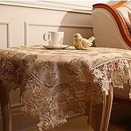 Neliö Yhtenäinen Kukka Table Cloths , Polyesteri materiaali