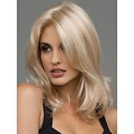 Kvinder Syntetiske parykker Medium Bølgete Blond Midtskill Naturlig parykk costume Parykker