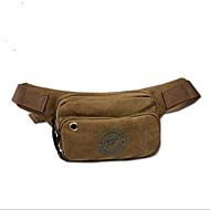 Herren Hüfttasche Leinwand Normal Braun